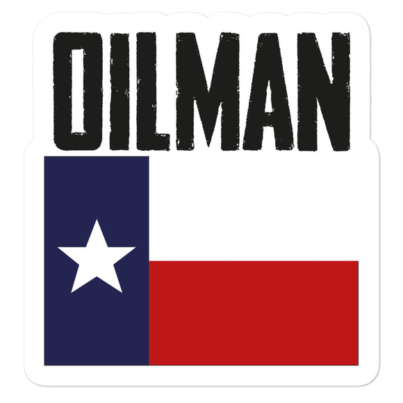 Texas Oilman Flag Sticker
