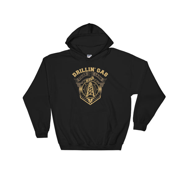 Drilling Gas Stacking Cash Black Oilfield Hoodie