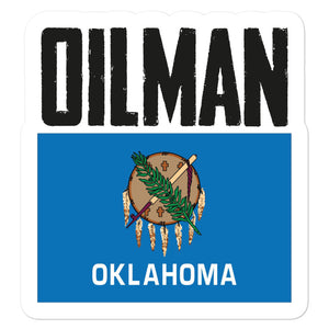 Oklahoma Oilman Flag Sticker