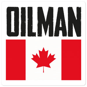 Canada Oilman Flag Sticker