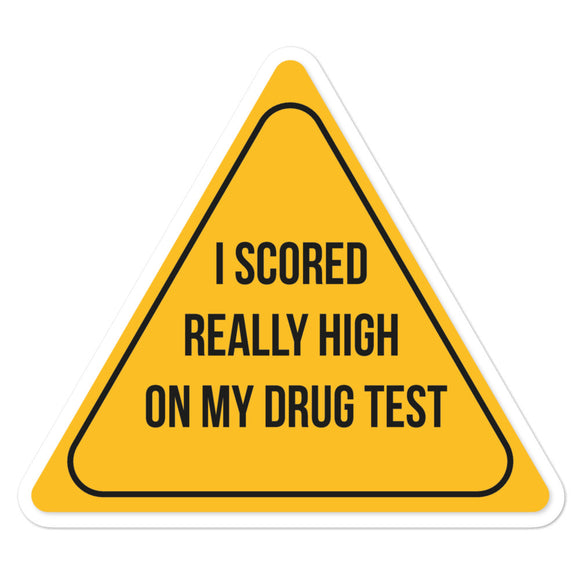 Drug Test Sticker
