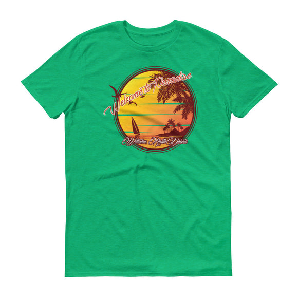 Williston Oilfield Paradise T Shirt Green