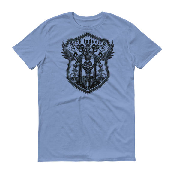 Oilfield Coat of Arms T Shirt, Light BLue