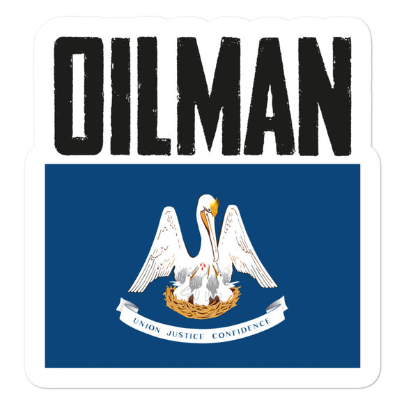 Louisiana Oilman Flag Sticker