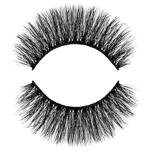 Slay 3D Faux Mink False Eyelash. Dramatic, medium length and very full and thick. Light and Fluffy. 100% Vegan & Cruelty Free Faux Mink Fibers