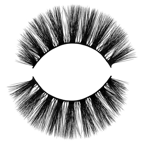 Lush 3D Faux Mink False Eyelash. Voluminous, Natural, Wispy, Light and Fluffy. 100% Vegan & Cruelty Free Faux Mink Fibers. Great everyday lash.