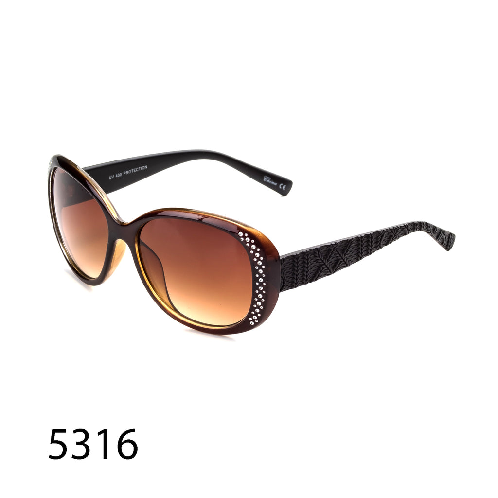 Pack of 12:  Rhinestones And Textured Arms Wholesale Sunglasses