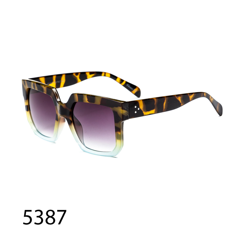 Pack of 12: Chunky Retro Square Oversized Shield Wholesale Sunglasses