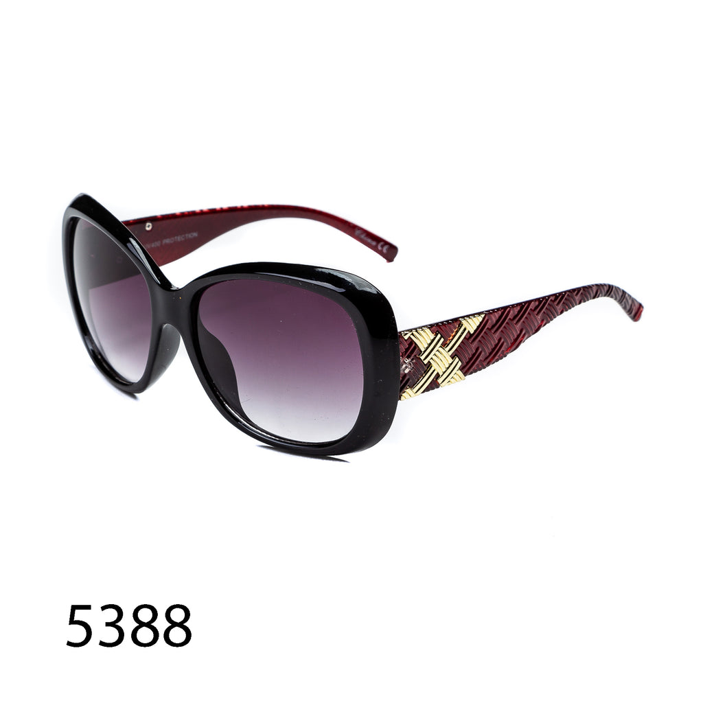 Pack of 12: Oversized Butterfly Textured Temples Wholesale Sunglasses