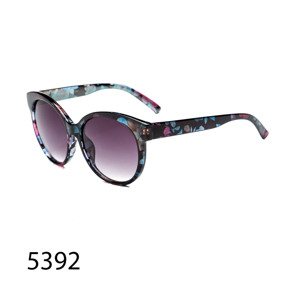 Pack of 12: Retro Round Floral Cateye Oval Wholesale Sunglasses