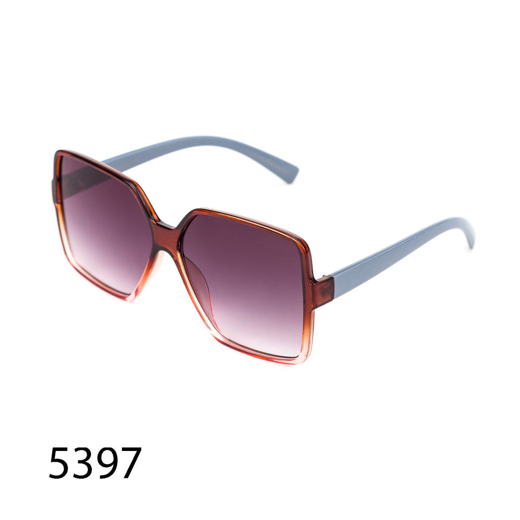Pack of 12: Modern Oversized Square Shield MultiToned Tinted Wholesale Sunglasses