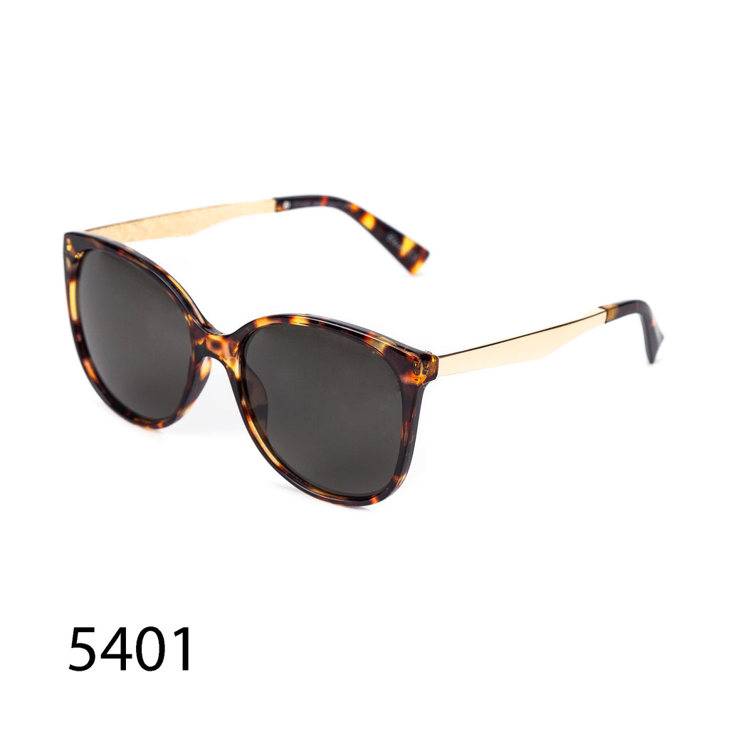 Pack of 12: Tortoise Retro Style Metal Temples Classy Wholesale Sunglasses