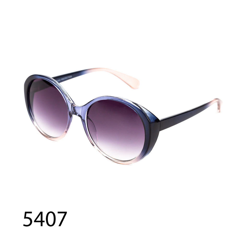 Pack of 12: Dual Toned Multicolored Elegant Round Cateye Wholesale Sunglasses