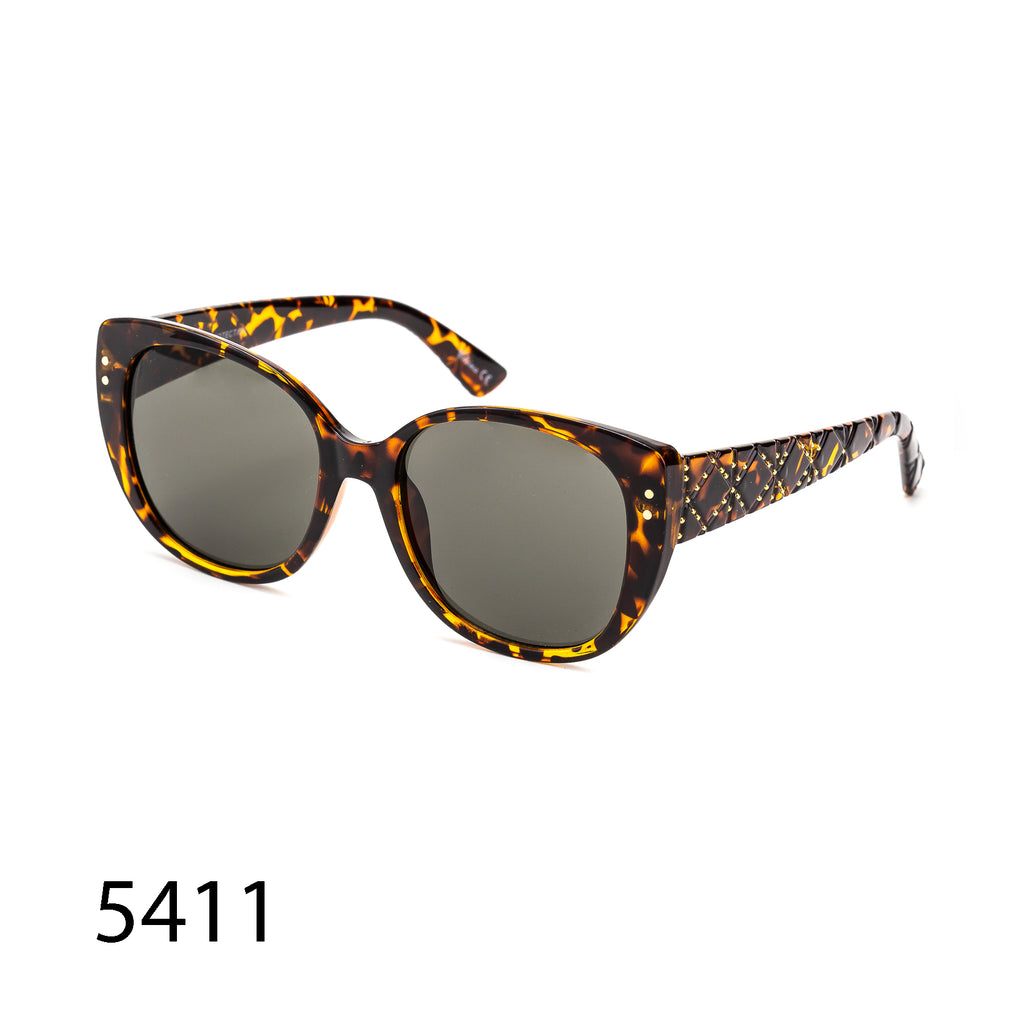 Pack of 12: Tortoise Cateye Vintage Decorated Textured Temples Wholesale Sunglasses