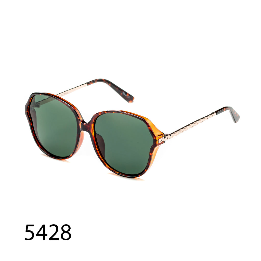 Pack of 12: Oversized Retro Aviator Metal Textured Legs Wholesale Sunglasses