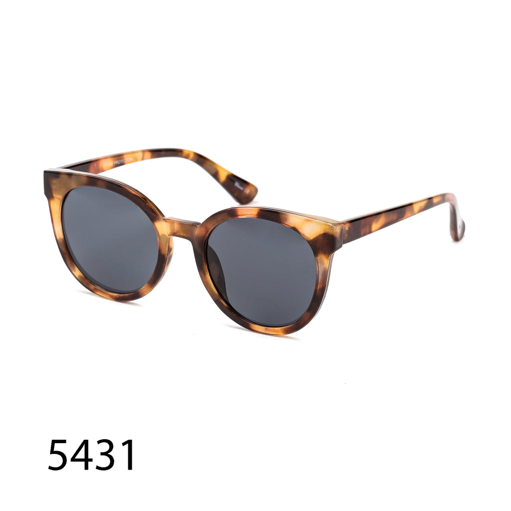 Pack of 12: Rich Tortoise Round Cateye Boutique Style Wholesale Sunglasses