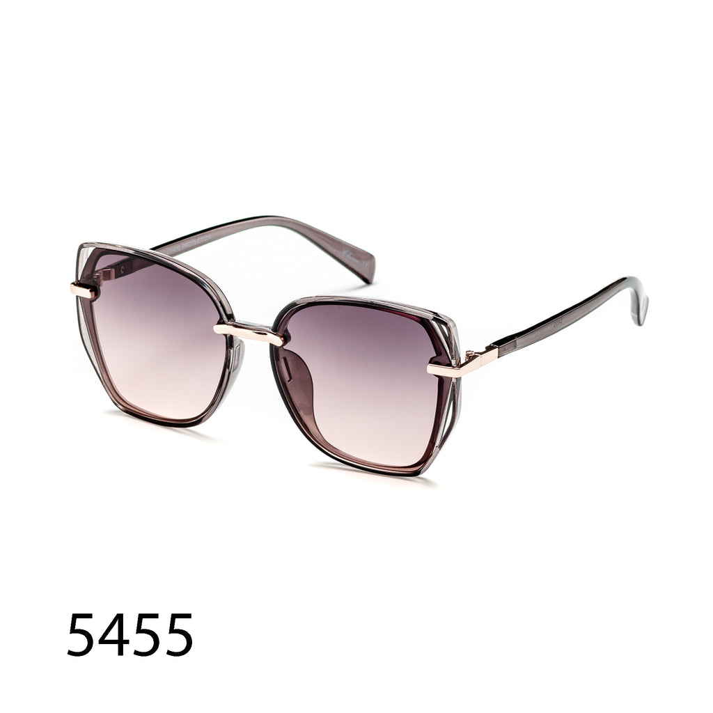 Pack of 12: Luxury Oversize Butterfly Angular Tinted Faded Wholesale Sunglasses