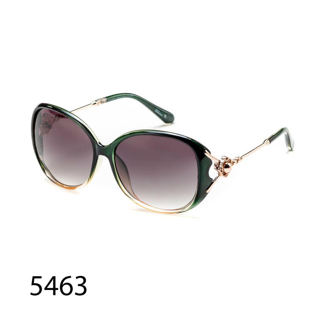 Pack of 12:  Oversized  Fashion Metal Floral Temple Wholesale Sunglasses