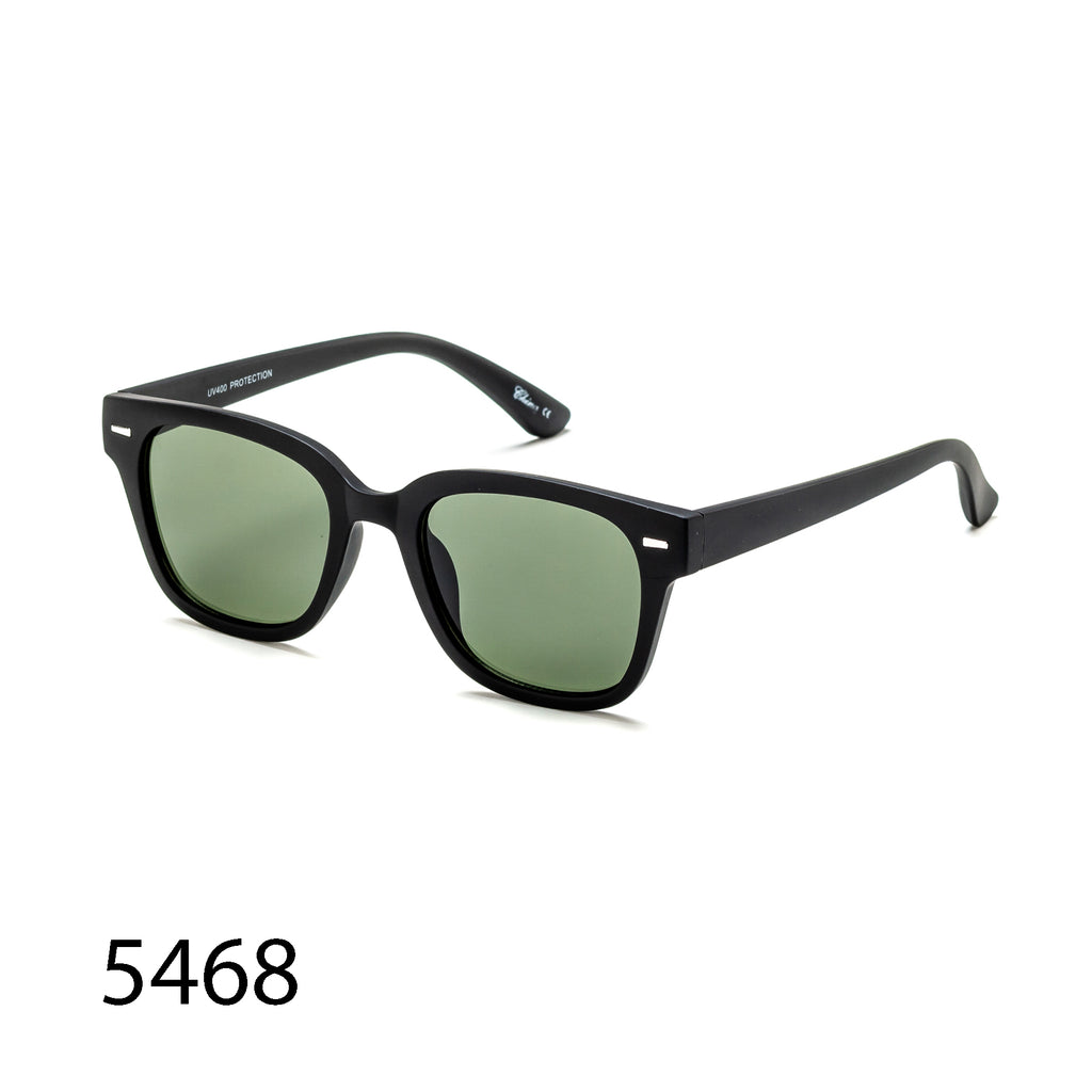 Pack of 12: Classic Retro Square Matte Rubber Glossy Wholesale Sunglasses