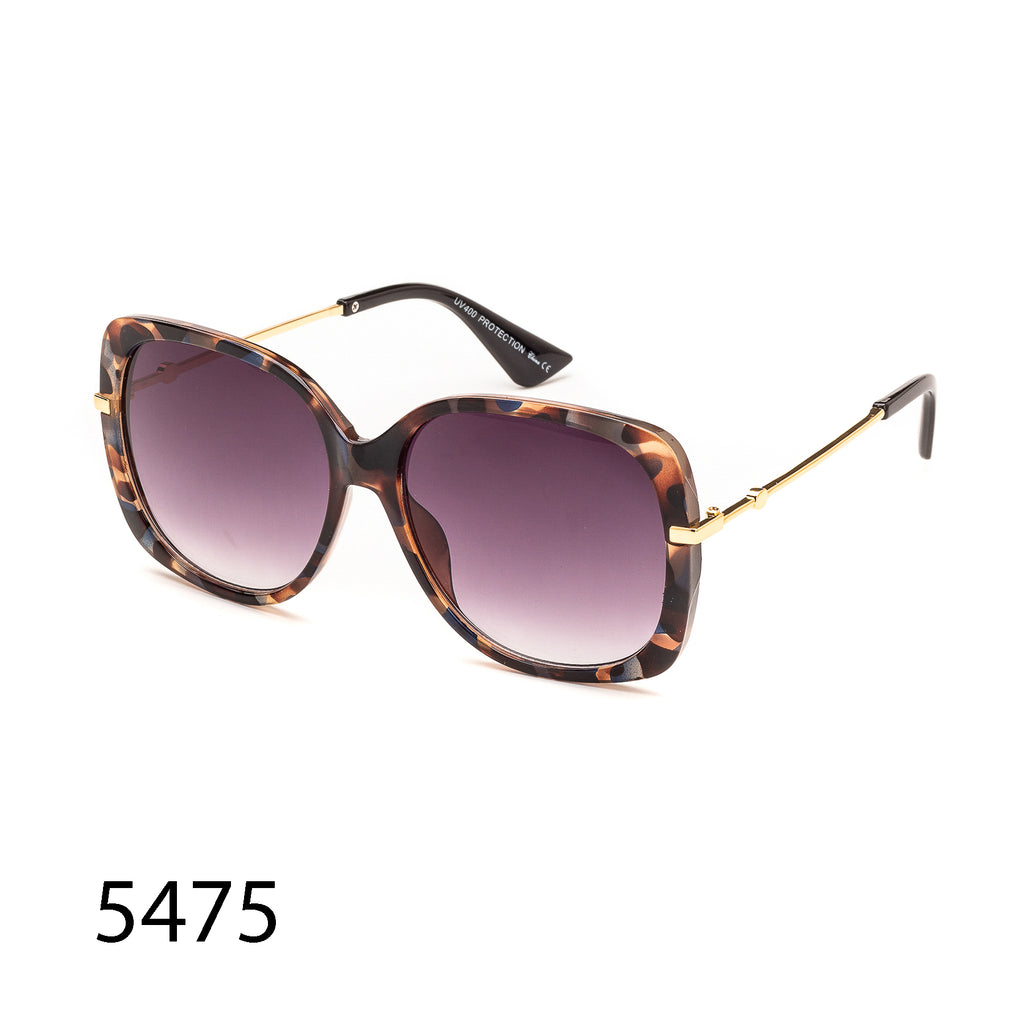 Pack of 12: Oversize Oval Colorful Tortoise Gold Arms Boutique Wholesale Sunglasses