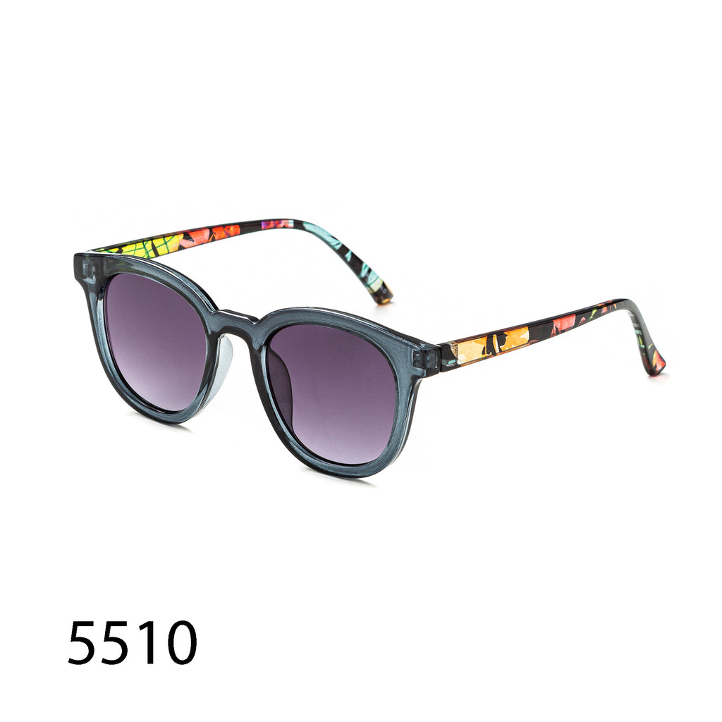 Pack of 12:  Retro Square and Colorful Patterned Arms Wholesale Sunglasses