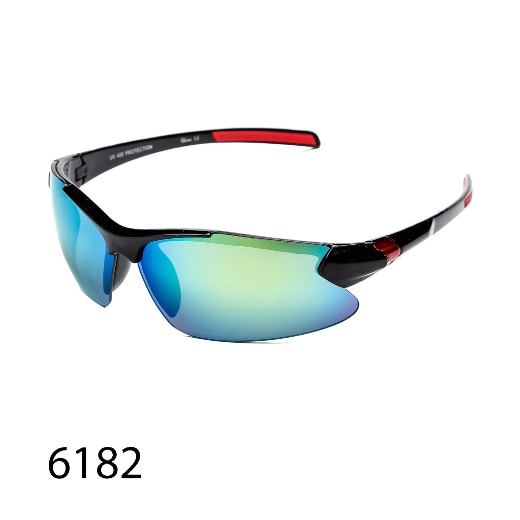 Pack of 12: Sporty Reflective Lens Jogger Runner  Bikers Motorcyclist Wholesale Sunglasses