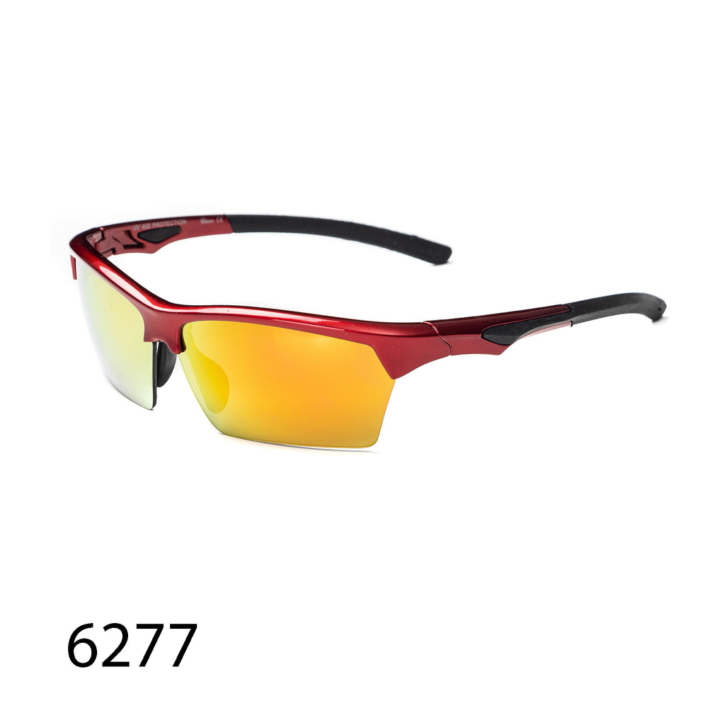 Pack of 12: Sporty Reflective Lens  Bikers Motorcyclist Athletic Impact Resistant Fire Wholesale Sunglasses