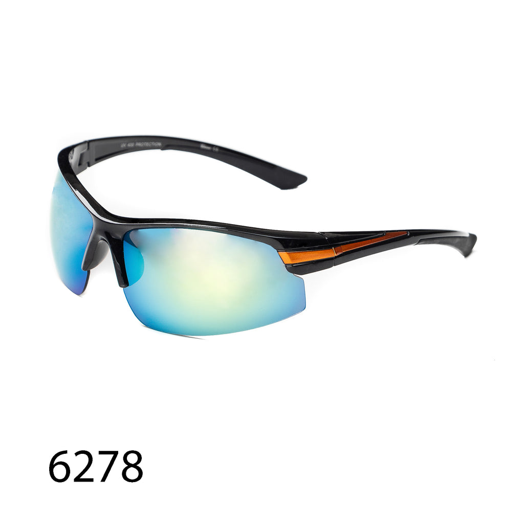 Pack of 12: Sporty Reflective Lens  Bikers Motorcyclist Stripe Wholesale Sunglasses