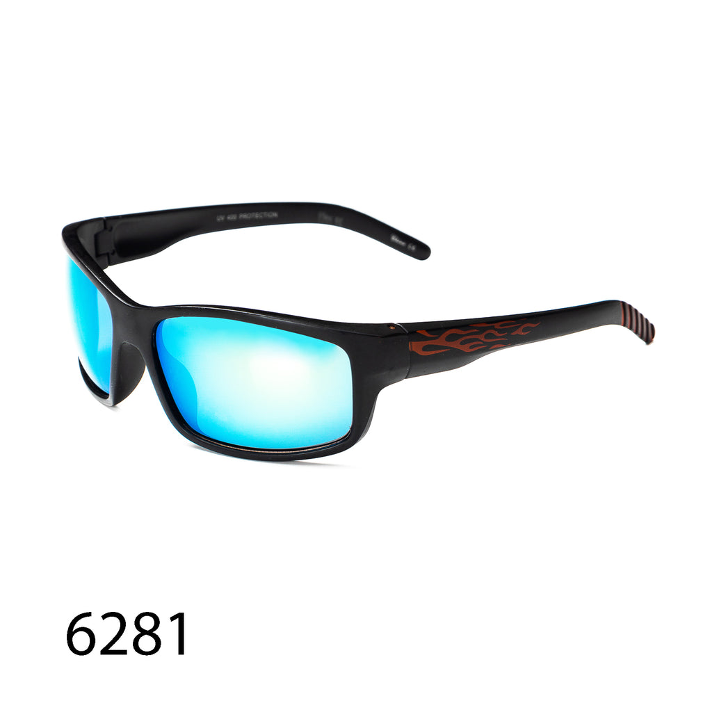 Pack of 12: Athletic Sporty Reflective Lens  Bikers Motorcyclist Athletic Impact Resistant Flame Fire Wholesale Sunglasses