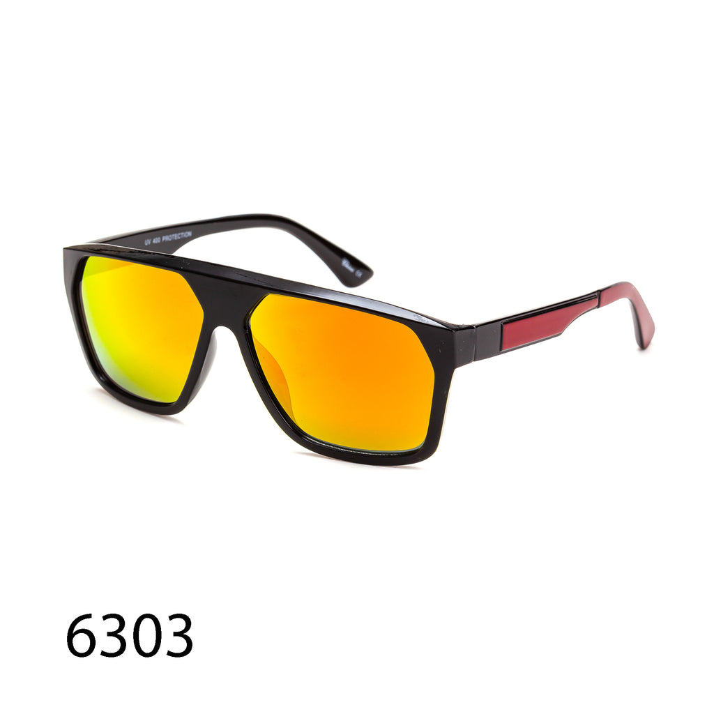 Pack of 12: Oversized Men Square Angular Sporty Casual Designed Wholesale Sunglasses