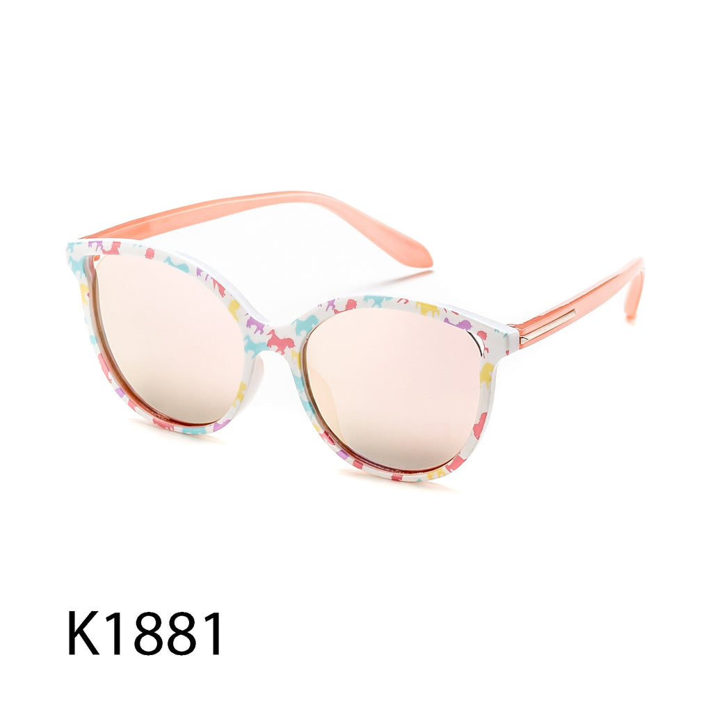 Pack of 12: Pastel Colorful Multicolor Cateye Round Girls Kids Children Wholesale Sunglasses