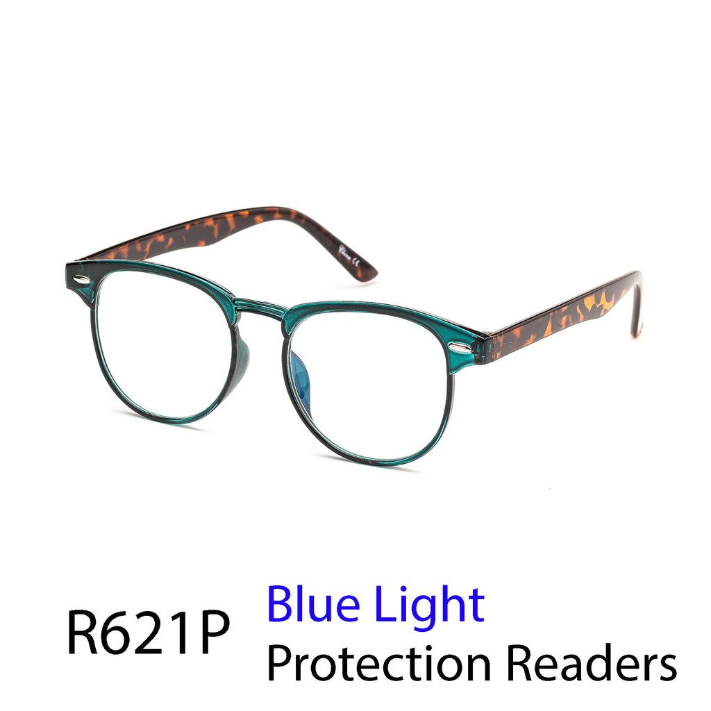 Pack of 12: Vintage Style Retro Classic Blue Light Protection Reading Glasses Wholesale Computer Readers