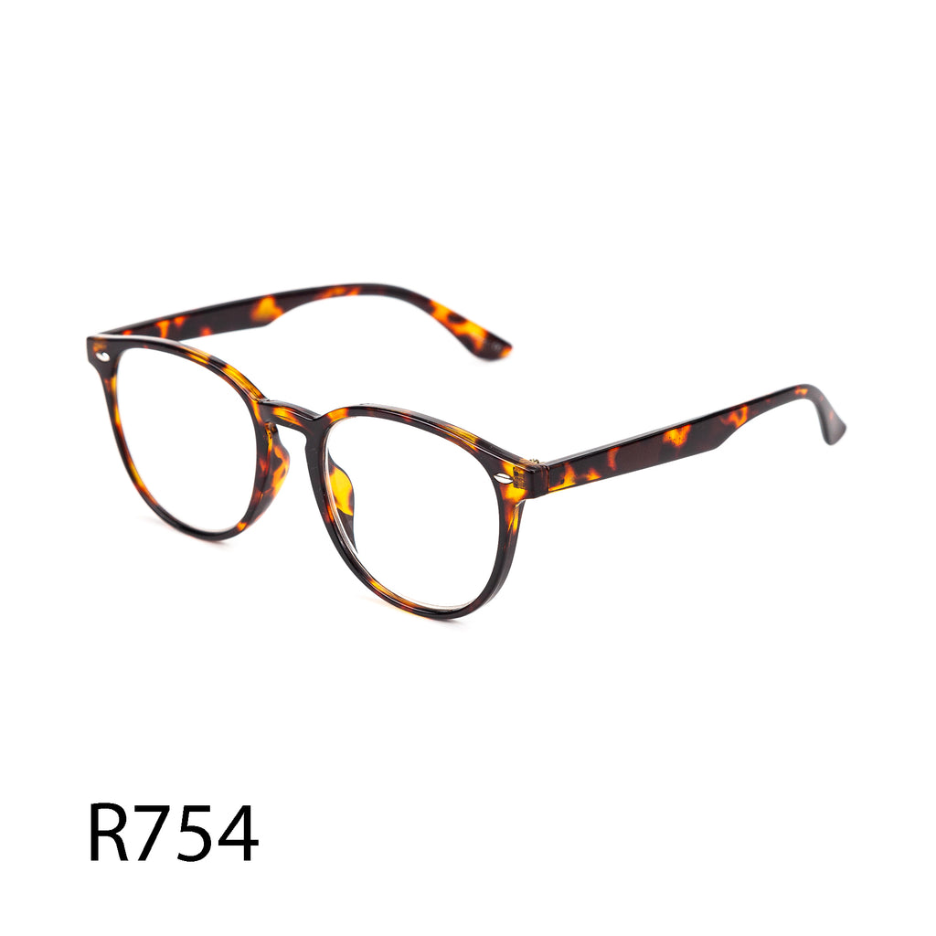 Pack of 12: Oversized Retro Round Tortoise Shell Basic Must Have millennials Wholesale Reading Glasses