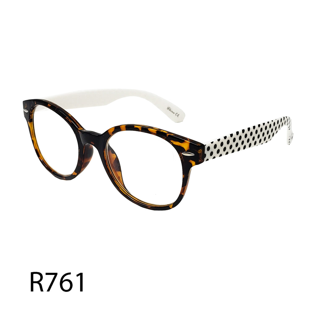 Pack of 12: Vintage Round Oval Polka Dots Tortoise Funky Style Wholesale Reading Glasses