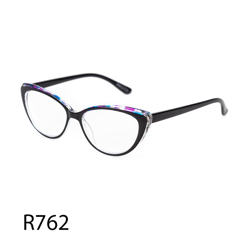 Pack of 12: Multicolor Office Lady Cateye Water Color Translucent Wholesale Reading Glasses