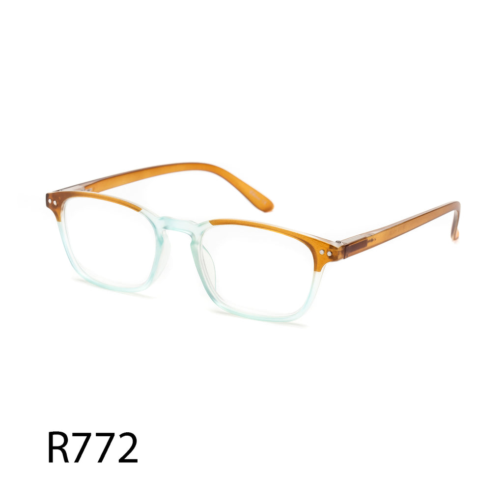 Pack of 12: Baby Colors Vintage Retro Square Multicolored Wholesale Reading Glasses