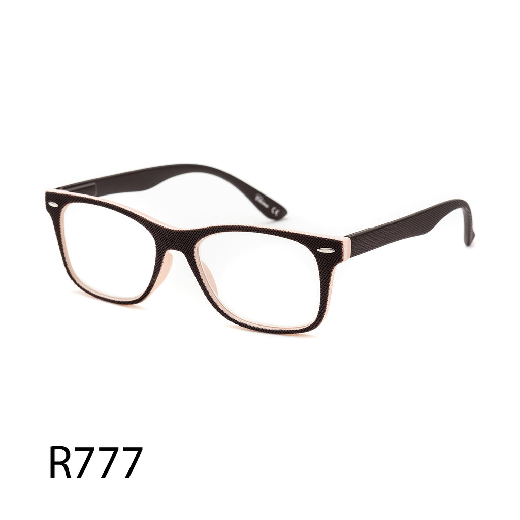 Pack of 12: Textured Unisex Dual Colors Forever Basic Style Oversized Square Wholesale Reading Glasses