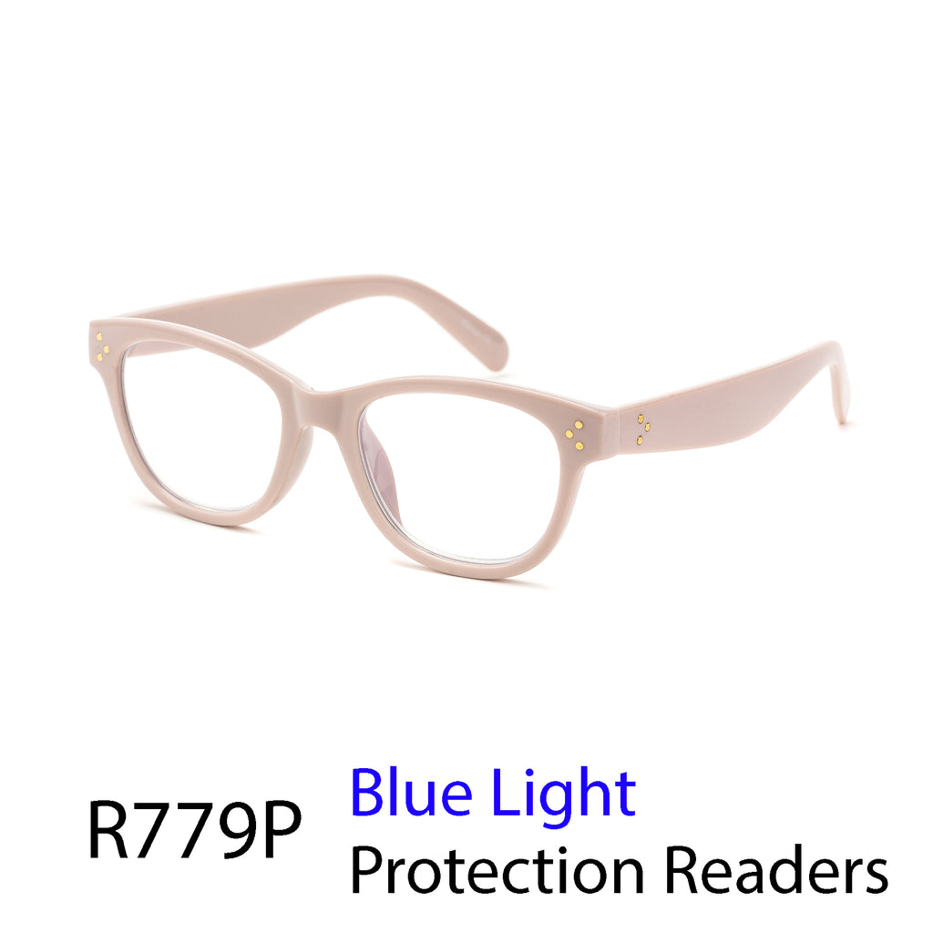 Pack of 12: Blush Pink Beige BlueLight Protection Readers Fashion Office Millennials Wholesale Computer Readers