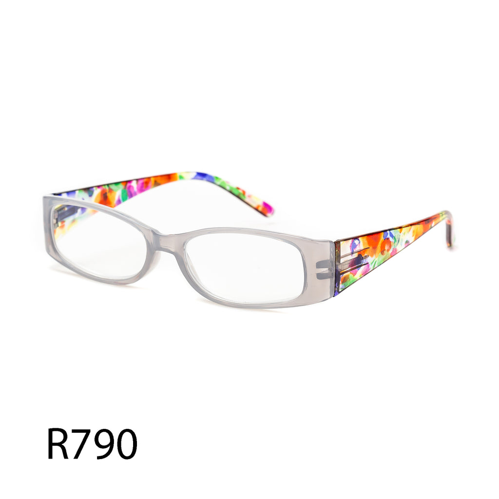 Pack of 12: Colorful Rainbow Watercolor Fill Tinted Classic Frame Wholesale Reading Glasses
