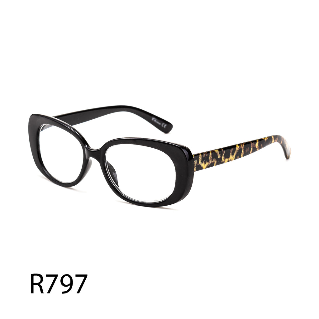Pack of 12: Animal Print Leopard Giraffe Patterned Butterfly Cat Eye Wholesale Reading Glasses