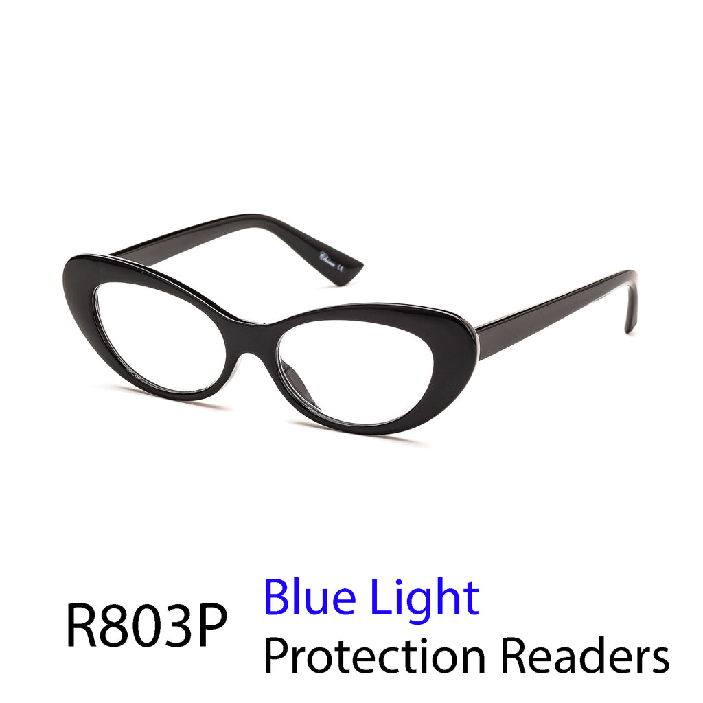 Pack of 12: Butterfly Frames Blue-Light Wholesale Reading Glasses