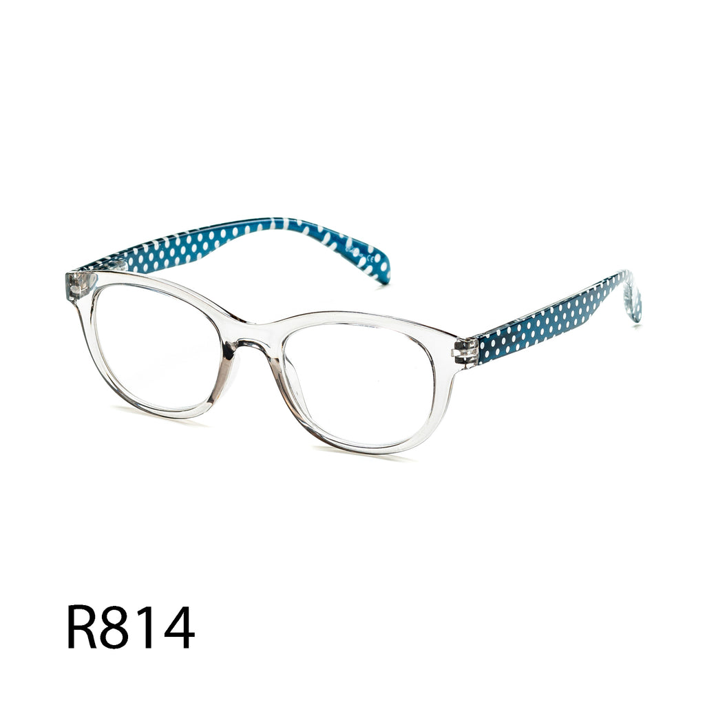 Pack of 12: Polka Dots Transparent Readers Boutique Wholesale Reading Glasses