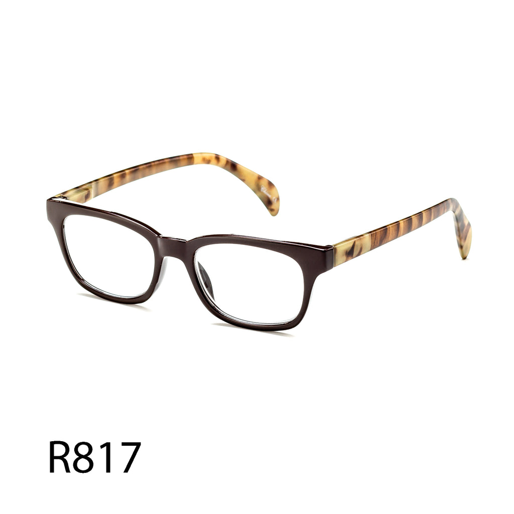 Pack of 12: Retro Vintage Style With Natural Pattern On Temples Wholesale Reading Glasses