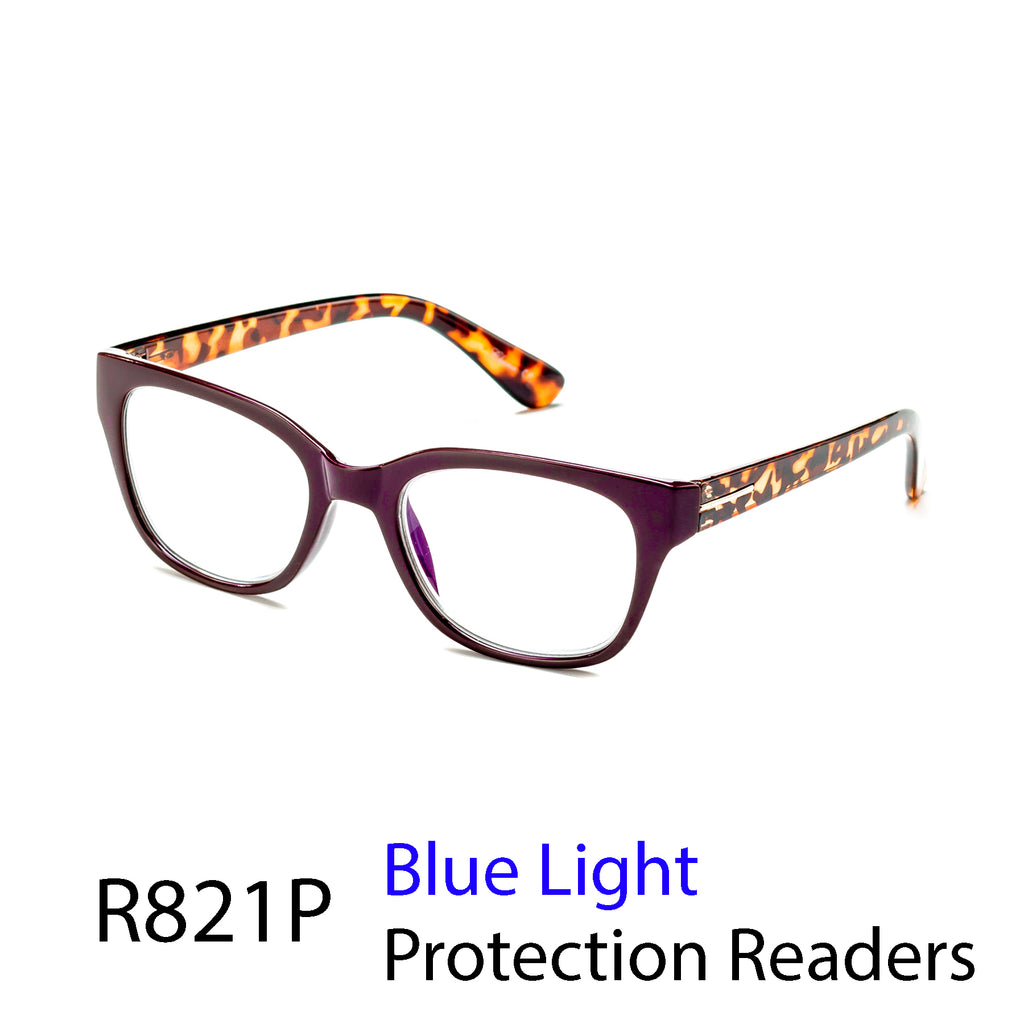 Pack of 12: Blue Light Protection Readers Block UV Blue lights Boutique Gold Piece Millennials Wholesale Reading Glasses