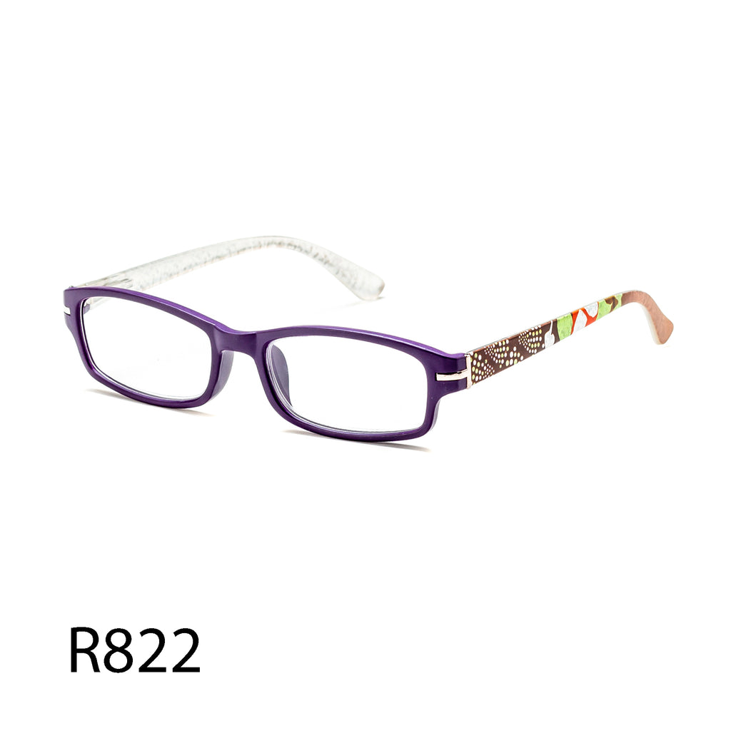 Pack of 12: Boutique Style Patterned Temples Colorful Wholesale Reading Glasses