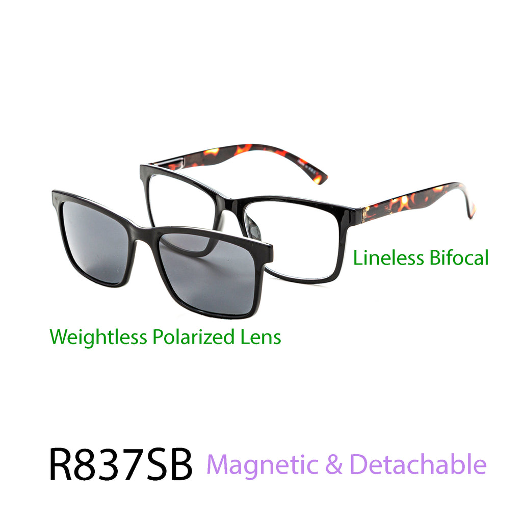 Pack of 12: Magnetic Detachable Polarized & Lineless Bifocal Wholesale Reading Glasses