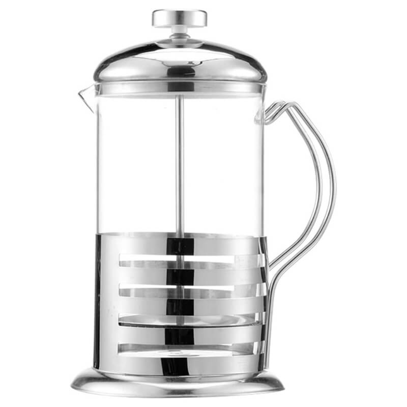 Heat Resistant Borosilicate Glass French Press Coffee Maker (27 Oz / 12 Oz)