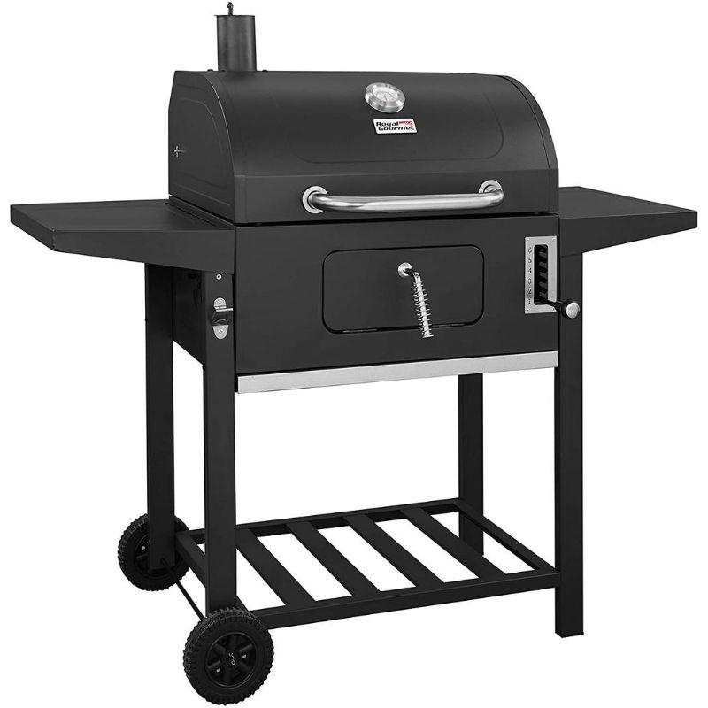 24-Inch Charcoal Grill Barbecue, 598 Square Inches Cooking Area with Wheels-Charcoal Grill-TOROS - COOKWARE BAKEWARE & GRILL STORE