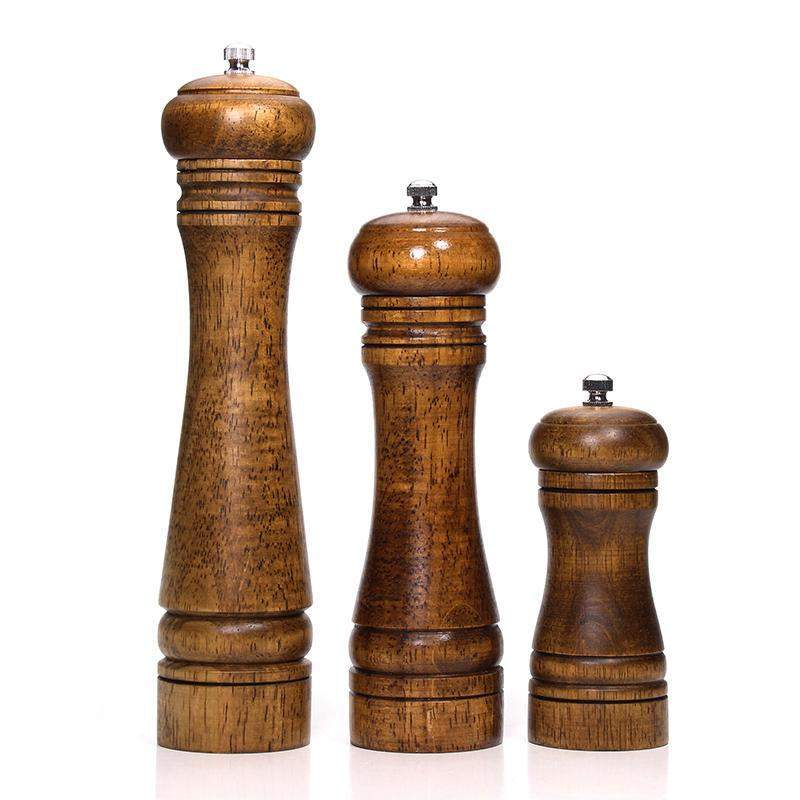 5 / 8 / 10 Inches Solid Wood Salt and Pepper Mill with Adjustable Ceramic Grinder - TOROS - COOKWARE BAKEWARE & GRILL STORE