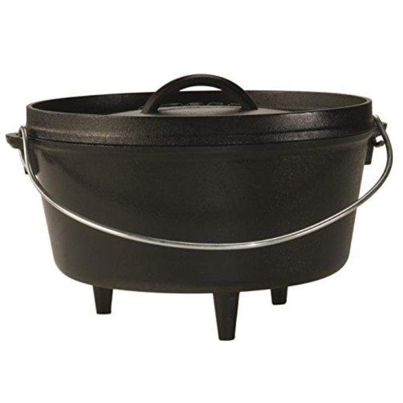 5 - 8 Quart Lodge Deep Camp Dutch Ovens Seasoned Cast Iron Camping Stove Cooking Pot - TOROS - COOKWARE BAKEWARE & GRILL STORE
